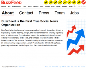 BuzzFeed.com Social Bookmarking about page full size image