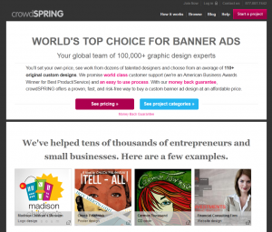 crowdSPRING.com Banner Ad Design service overview page full size image