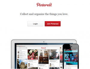 Pinterest.com Social Bookmarking home page full size image