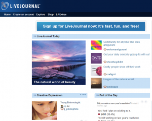 LiveJournal.com home page full size image