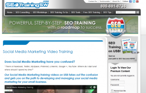 SEOTrainingSW Social Media Marketing Video training (SEOTrainingSW.comsocial-media-marketing-video-training) overview page full size image