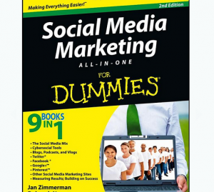 'Social Media Marketing All-in-One For Dummies' book front cover full size image