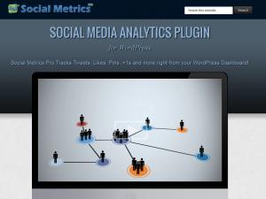 Social Metrics Pro (socialmetricspro.com) Wordpress Social Analytics Plugin sales page image