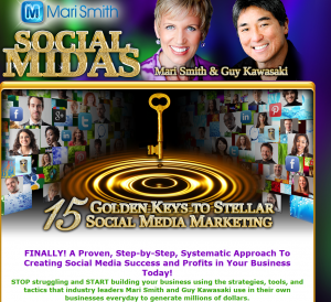 Mari Smith's 'Social Midas' (marismith.com/socialmidas) social marketing training program sales page full size image