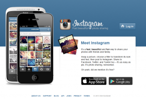 Instagram.com home page full size image