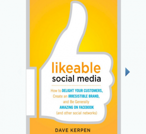 'Likeable Social Media' book front cover image