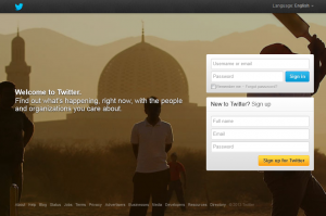 Twitter.com home page full size image