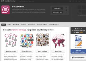 Link Assistant.com BuzzBundle overview page full-size image