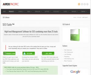 Apex Pacific SEO Suite (seosuite.com) home page full size image