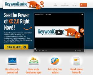 Keyword Canine (KeywordCanine.com) home page full size image