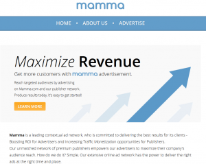Mamma.com Advertise page full size image