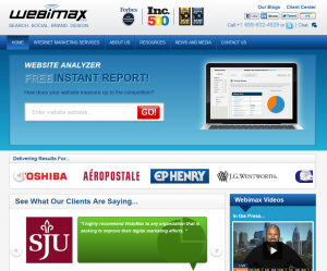 WebiMax.com home page full size image