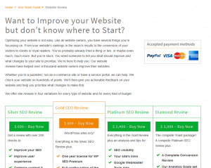 Yoast SEO review service overview page full-size image