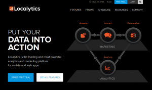 Localytics.com Mobile App Analytics and Marketing home page full size image