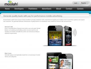 MoolahMedia.com Homepage full-size image