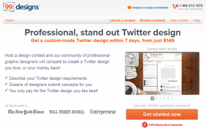 99Designs Twitter Design (99designs.com/twitter-design) page full size image
