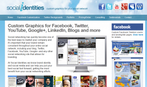 SocialIdentities.com Twitter Design service home page full size image