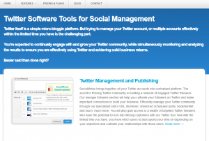 SocialMotus.com Twitter Software overview page full size image