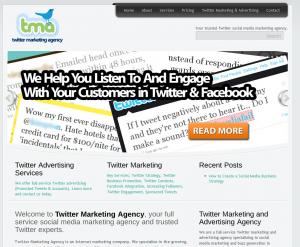 TwitterMarketingAgency.com Twitter Marketing Services home page full size image