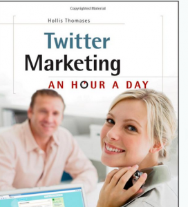 'Twitter Marketing: An Hour a Day' book front cover image