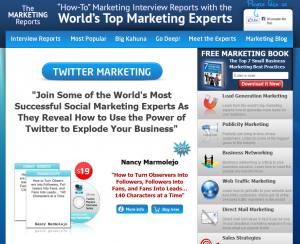 The Marketing Reports: Twitter Marketing sales page full size image
