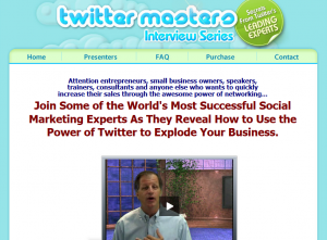 Twitter Masters Interview series sales page full size image