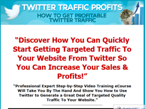 'Twitter Traffic Profits' eBook (twittrafficprofits.com) sales page full size image