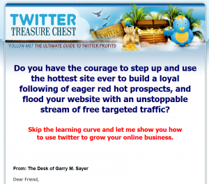 Twitter Treasure Chest (MonetizeYourFollowers.com) sales page full size image