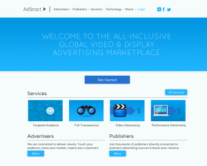 AdStract (Adstract.com) Video Advertising network home page full size image