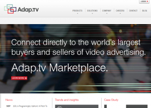Adap.tv Video Advertising home page full size image