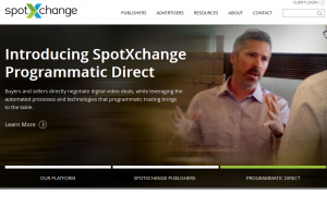 SpotXchange (SpotXchange.com) Video Advertising Platform home page full size image