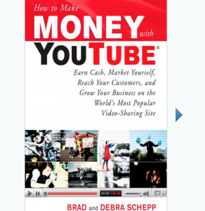 'How to Make Money with YouTube' book front cover full size image