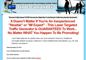 Tube Equalizer (TubeEqualizer.com) sales page full size image