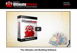 UltimateDemon.com for Web 2.0 submission home page full size image