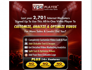 VOOplayer (internetmarketingwizard.com/offers/vooplayer) sales page full size image