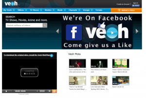 Veoh.com home page full size image