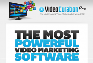 Video Curation Pro (VideoCurationPro.com) home page full size image
