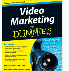 'Video Marketing For Dummies' book front cover full size image