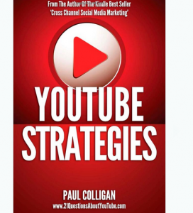 'Youtube Strategies' book front cover full size image