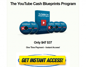 'YouTube Cash Blueprints' Program (tubecashblueprints.com) sales page full size image