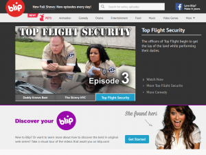 Blip.tv home page full size image