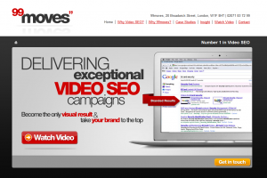 99moves (99moves.com) Video SEO Services home page full size image