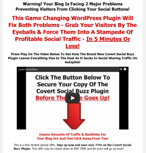 Convert Social Buzz (covertsocialbuzz.com) sales page full size image