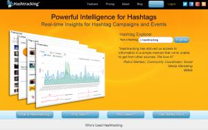 Hashtracking (Hashtracking.com) Twitter Hashtag tracking service home page full size image