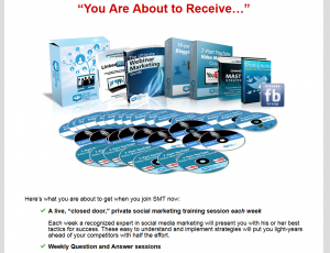 Social Marketing Tribe (SocialMarketingTribe.com) SMM training course sales page full size image