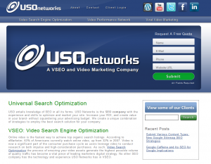 USO Networks (USONetworks.com) home page full size image