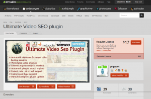 The Ultimate Video SEO plugin (codecanyon.net/item/ultimate-video-seo-plugin) order page full size image