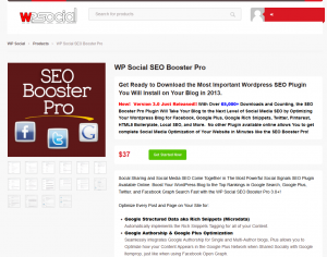 WP Social SEO Booster Pro (wpsocial.com/product/wp-social-seo-booster-pro) sales page full size image