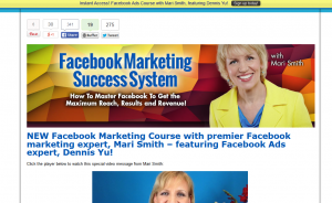 Mari Smith's 'Facebook Marketing Success System' (marismith.com/facebook-marketing-success-system) sales page full size image