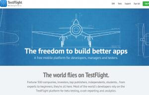 TestFlight (TestFlightApp.com) home page full size image